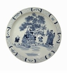 Dessau Home Blue And White Plate
