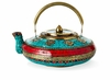 Dessau Home Brass & Turquoise Decorative Kettle
