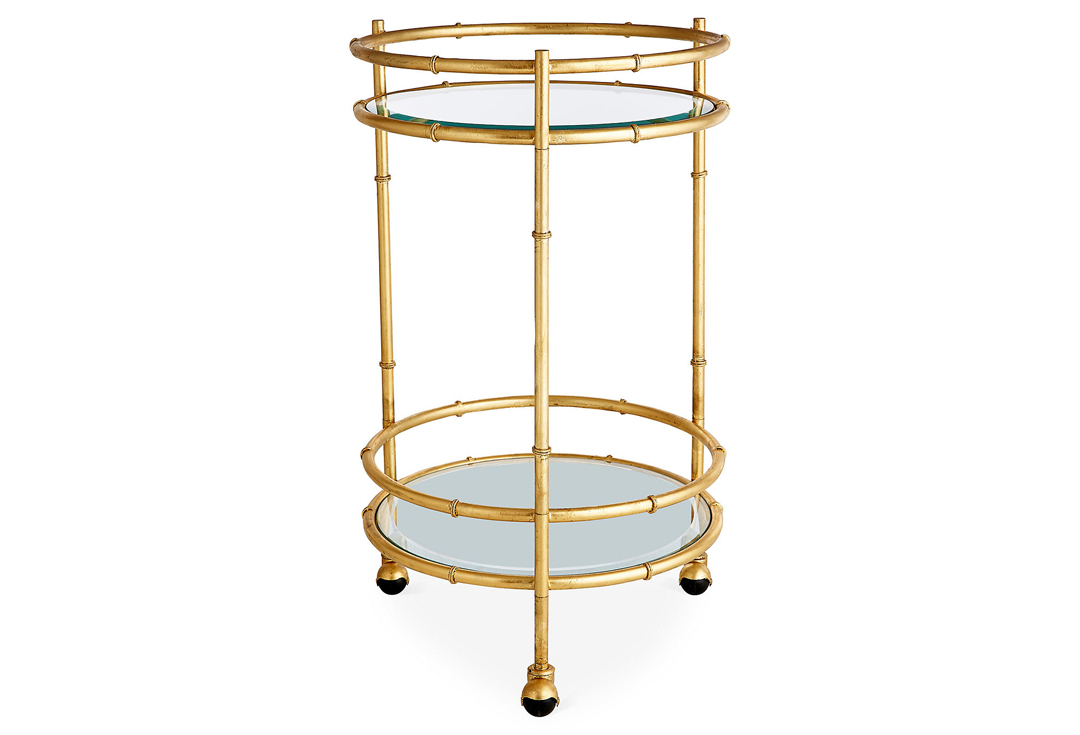 Item gold bamboo round bar cart by dessau home