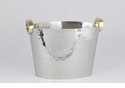 Dessau Home Nickel & Gold Ring Wine Bucket