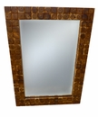 Dessau Home Teak Tile Mirror