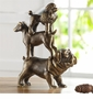 Dog Trio Sculpture by SPI Home