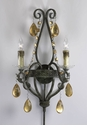 Dorato 2 Light Wrought Iron Wall Sconce by Cyan Design