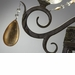Dorato 6 Light Wrought Iron Chandelier by Cyan Design