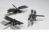 Dragonfly Iron Sculptures Set (3) by Cyan Design