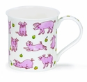 Dunoon Bute Animals Galore Pig Mug