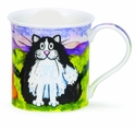 Dunoon Bute Comical Cats Black and White Mug