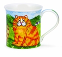 Dunoon Bute Comical Cats Ginger Mug
