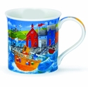 Dunoon Bute Harbour Life Orange Mug