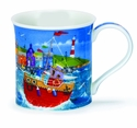 Dunoon Bute Harbour Life Red Mug