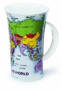 Dunoon Glencoe Map of the World Mug