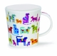 Dunoon Lomond Colourful Cats Mug