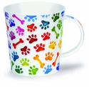 Dunoon Lomond Dog Paw Prints Mug