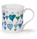 Dunoon Mug Blue Heartstrings Mug (10.1 Oz.)
