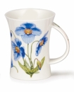 Dunoon Mug Blue Poppies Mug (11.1 Oz)
