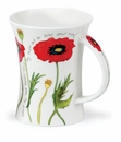 Dunoon Mug Cottage Flowers Poppy Mug (11.1 Oz)