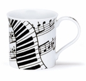 Dunoon Mug Piano Music Mug - (10.1 Oz.)