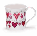 Dunoon Mug Red Heartstrings Mug (10.1 Oz.)