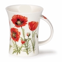 Dunoon Mug Red Poppies Mug (11.1 Oz)