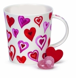 Dunoon Red Lovehearts Mug 10.8oz.