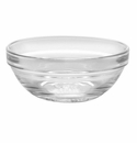 Duralex Lys Stackable Clear Glass Bowl 3.5 Inch