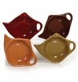 Earth Colors Assorted Tea Bag Holders (4) by Hues and Brews