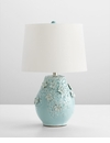 Eire Ceramic Blue Table Lamp by Cyan Design