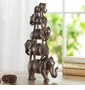 Elephant Quintet Sculpture by SPI Home