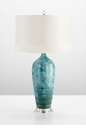 Elysia Blue Ceramic Table Lamp by Cyan Design