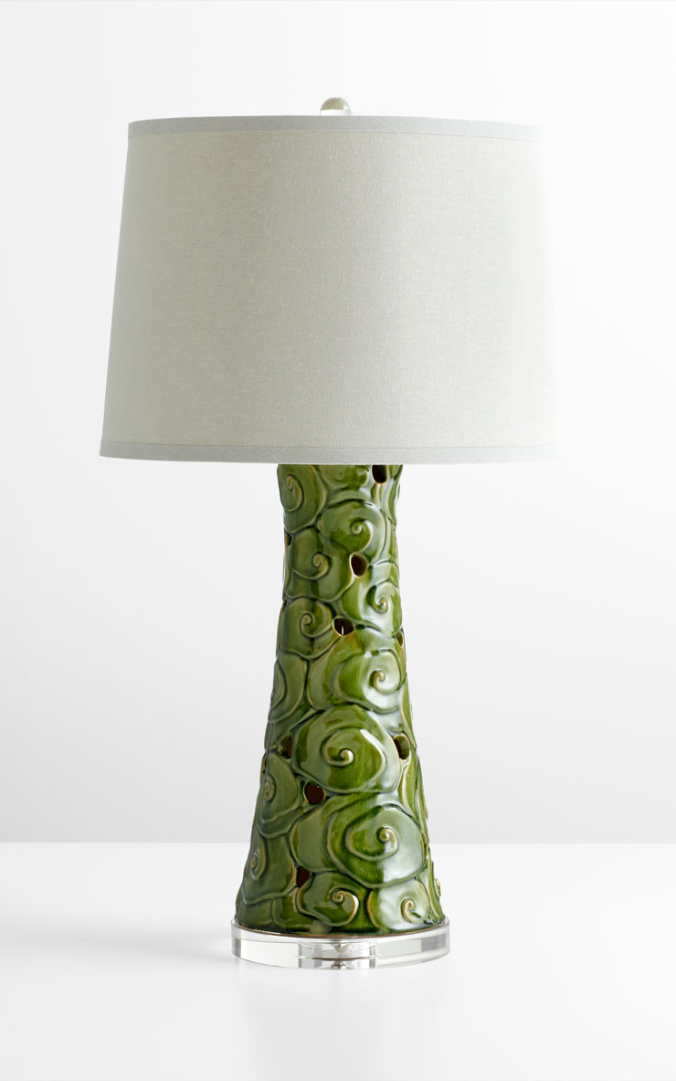 Emerald Green Table Lamp By Cyan Design