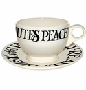 Emma Bridgewater Black Toast Breakfast Cup and Saucer