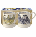 Emma Bridgewater Little Owl/Barn Owl Set/2 Mugs