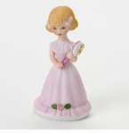 Enesco Growing Up Girls Blonde Age 5 Birthday Girl Figurine