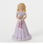 Enesco Growing Up Girls Blonde Age 8 Birthday Girl Figurine