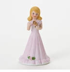 Enesco Growing Up Girls Blonde Age 9 Birthday Girl Figurine