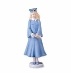 Enesco Growing Up Girls Blonde Graduation Figurine