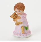 Enesco Growing Up Girls Brunette Age 1 Birthday Girl Figurine
