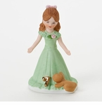 Enesco Growing Up Girls Brunette Age 7 Birthday Girl Figurine