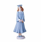 Enesco Growing Up Girls Brunette Graduation Figurine