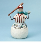 Enesco Jim Shore Baseball Snowman Figurine
