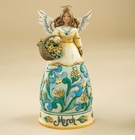 "Enesco Jim Shore Heartwood Creek ""March"" Angel Figurine"