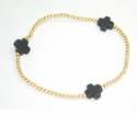 enewton Jewelry Charcoal Signature Cross Gold Bracelet Medium Bead