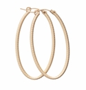 enewton Jewelry Simply Elegant Oval Hoop- Textured