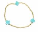 enewton Jewelry Turquoise Signature Cross Gold Bracelet Medium Bead