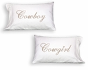 Faceplant Cowboy & Cowgirl Standard Pillow Case Pair