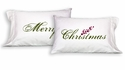 "Faceplant Dreams Standard Pillowcase Pair, ""Merry Christmas"""