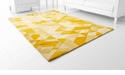 Facets Gold Rug Polyester Gold 11'x7.1' by Cyan Design