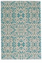 """Feizy Keats Turquoise 2'-7"""" x 8' Rug"""