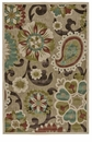 """Feizy Lucka Tan & Brown 7'-6"""" X 7'-6"""" Round Rug"""