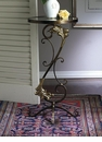 Florence �Table Bronze Iron with Brass Medallions Home Decor